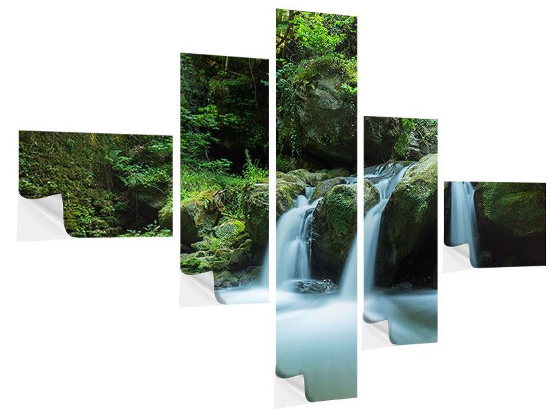 Klebeposter 5-teilig modern Fallendes Wasser