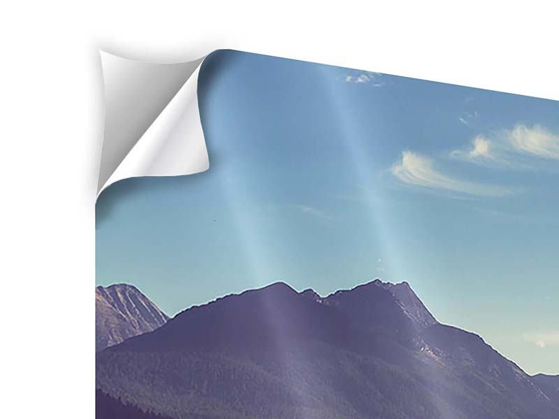 Klebeposter 5-teilig modern Bergspiegelung