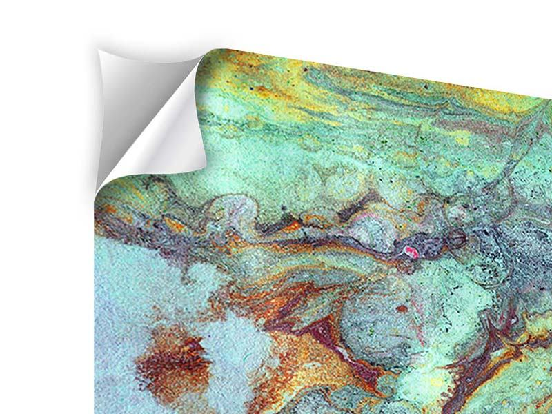 Klebeposter 5-teilig modern Marmor in Grün