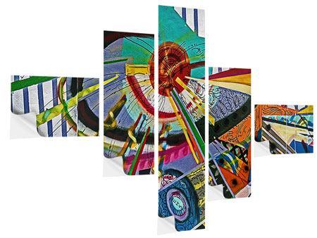 Klebeposter 5-teilig modern Künstlerisches Graffiti