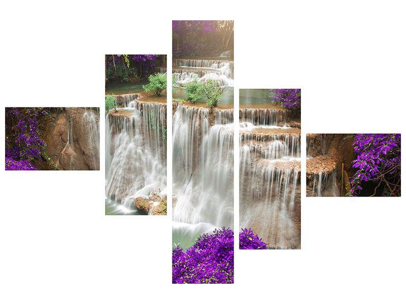 Klebeposter 5-teilig modern Garten Eden