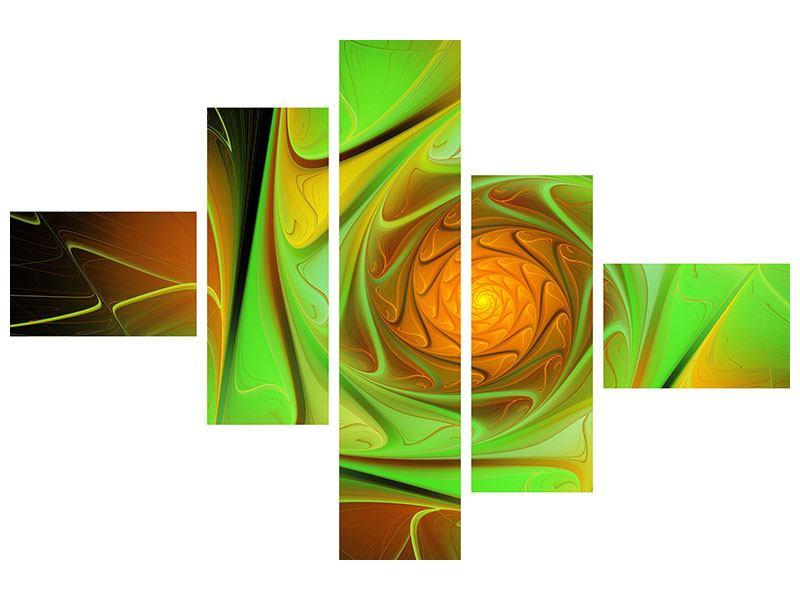 Klebeposter 5-teilig modern Abstraktionen