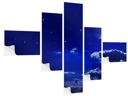 Klebeposter 5-teilig modern Der Nachthimmel