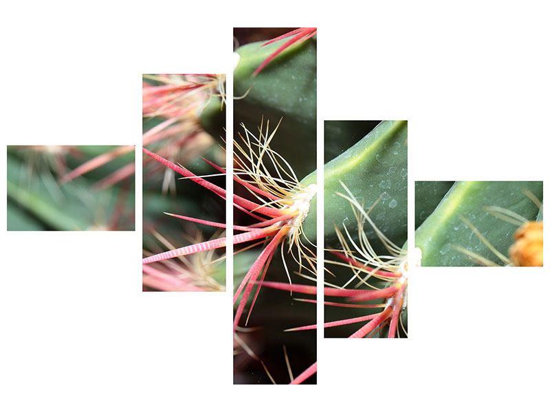 Klebeposter 5-teilig modern Die Kaktusblüte