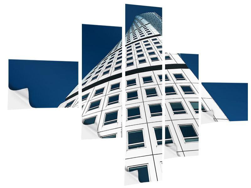 Klebeposter 5-teilig modern Meisterstück Wolkenkratzer