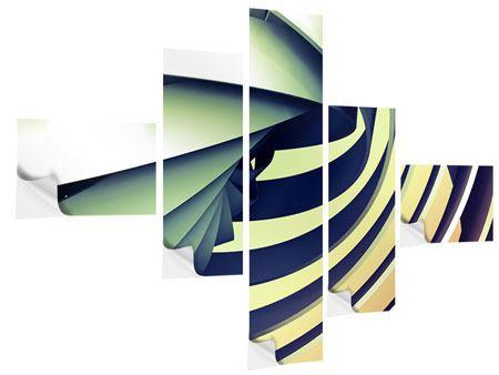 Klebeposter 5-teilig modern Abstrakte Perspektiven