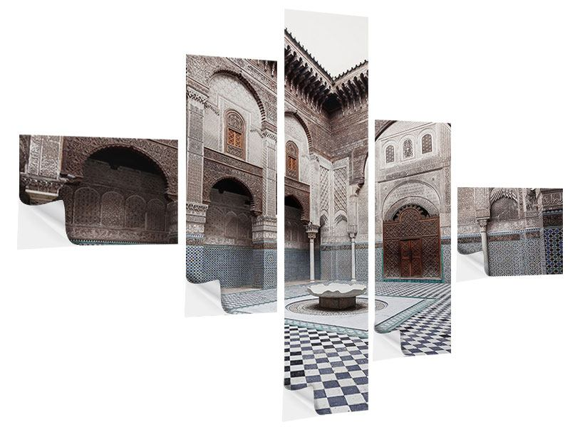Klebeposter 5-teilig modern Orientalischer Hinterhof