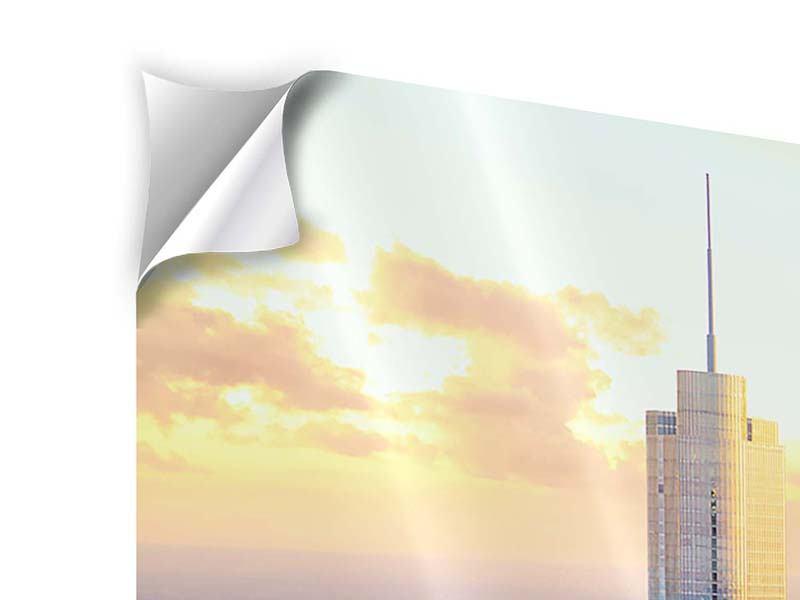 Klebeposter 5-teilig modern Skyline Chicago