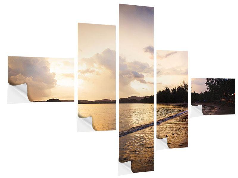 Klebeposter 5-teilig modern Das Ufer