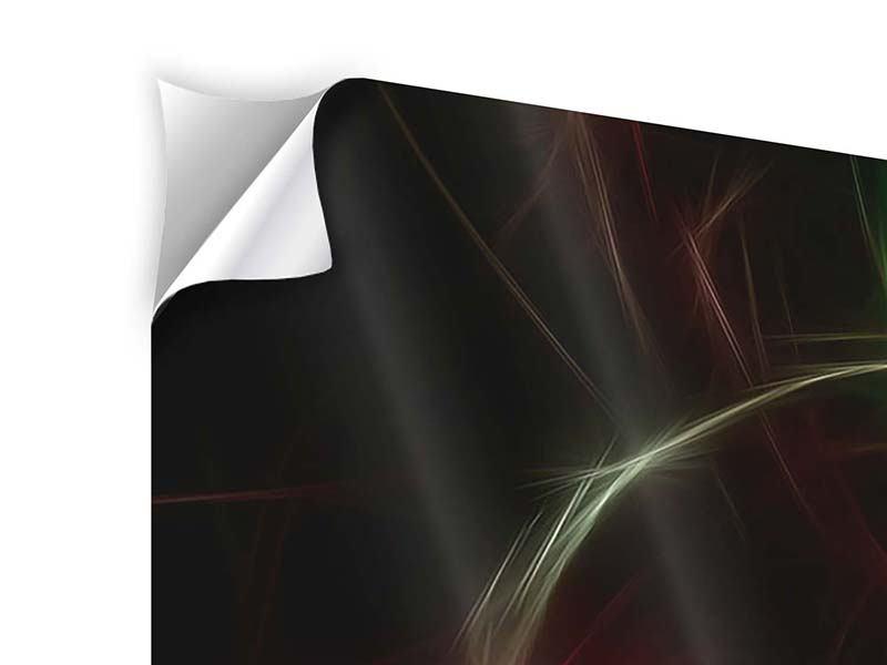 Klebeposter 5-teilig modern Fraktales Lichtspektakel