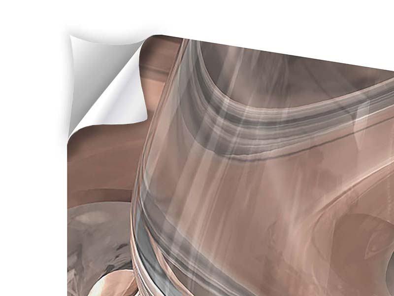 Klebeposter 5-teilig modern Abstraktes Glasfliessen