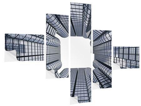 Klebeposter 5-teilig modern Besondere Perspektive