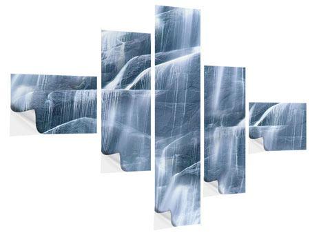 Klebeposter 5-teilig modern Grossartiger Wasserfall