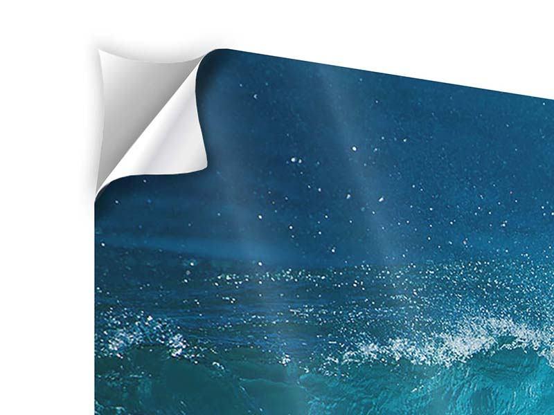 Klebeposter 5-teilig modern Die perfekte Welle