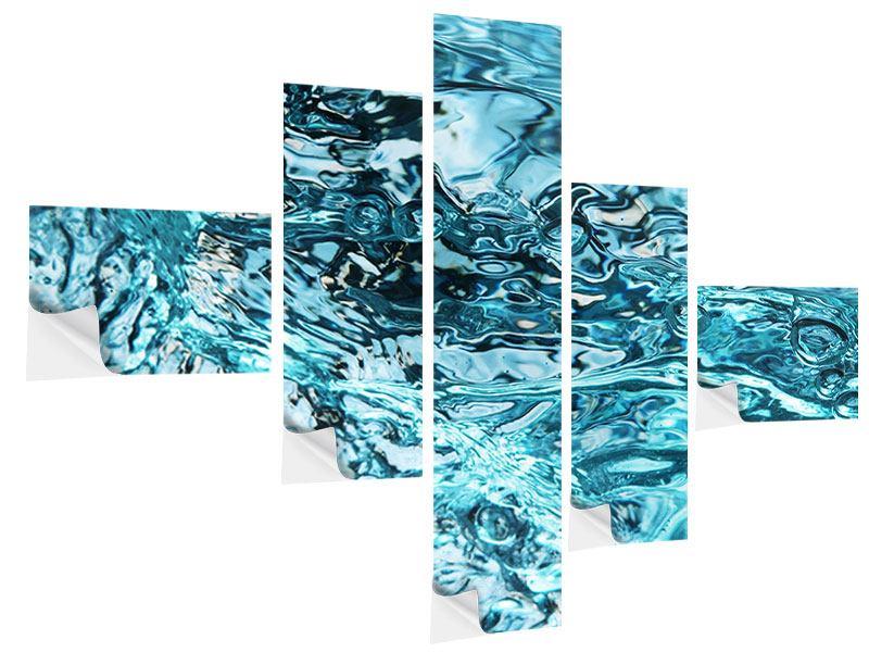Klebeposter 5-teilig modern Schönheit Wasser