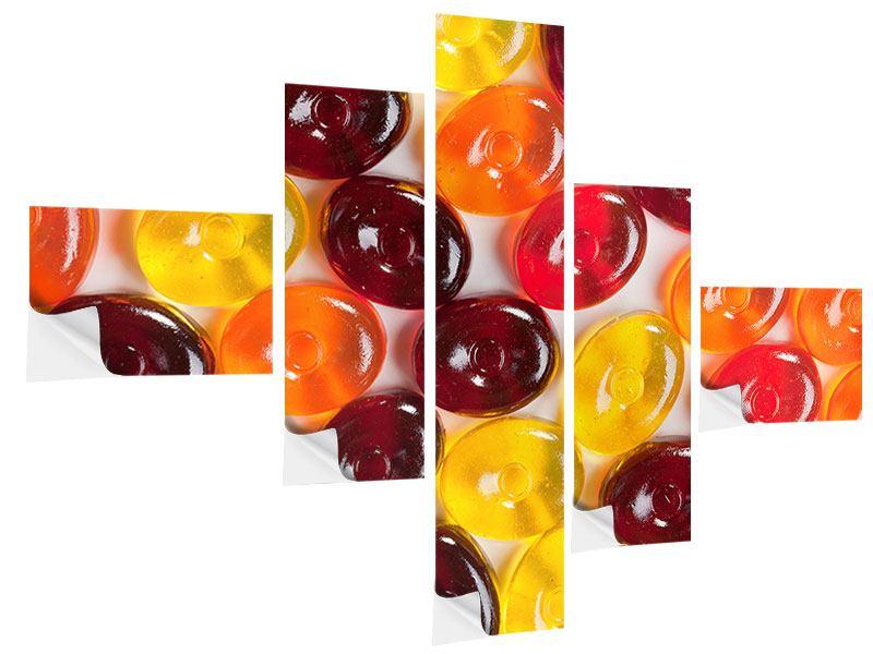 Klebeposter 5-teilig modern Bonbons