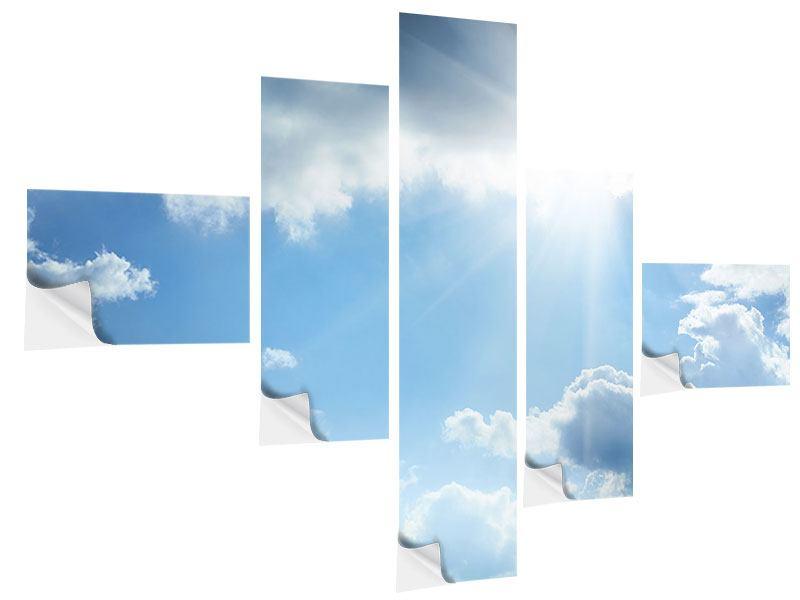 Klebeposter 5-teilig modern Himmelshoffnung