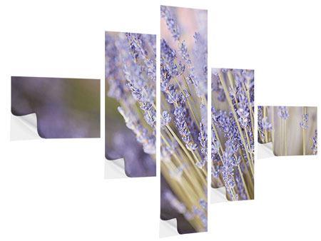 Klebeposter 5-teilig modern Lavendel XXL