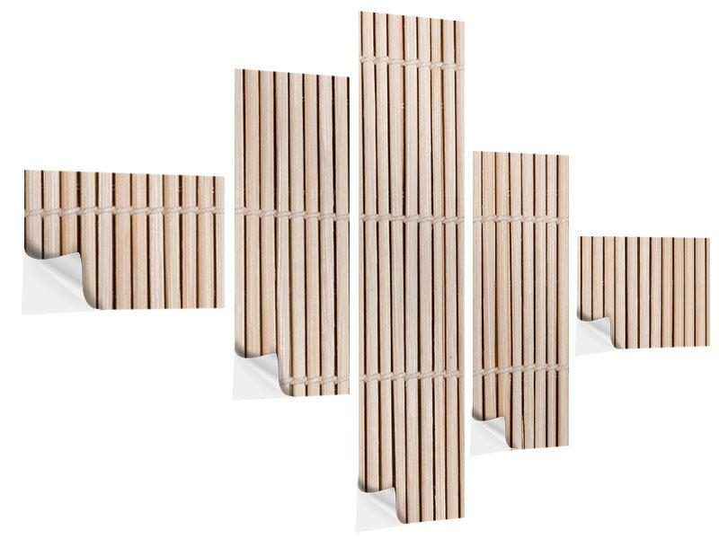 Klebeposter 5-teilig modern Lucky Bamboo