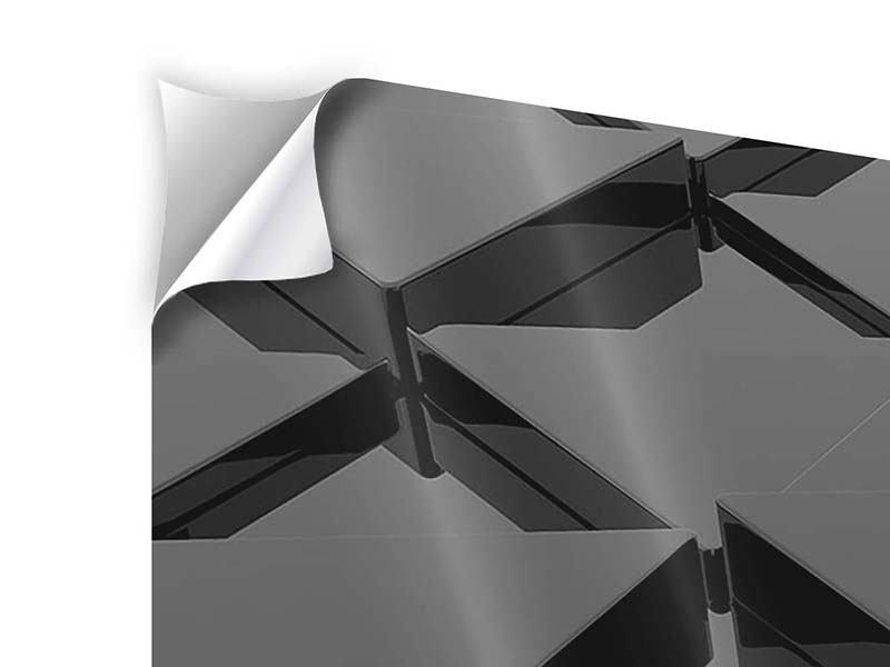 Klebeposter 5-teilig modern 3D-Dreiecksflächen