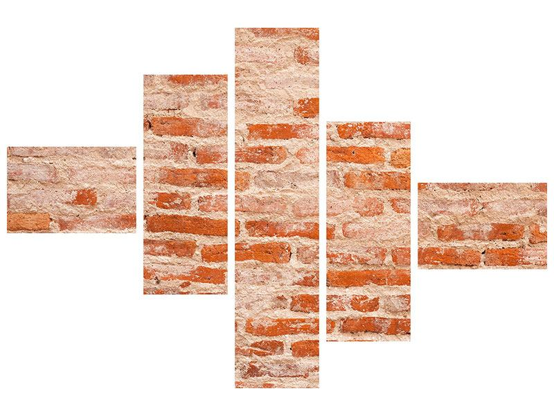 Klebeposter 5-teilig modern Mauerwerk