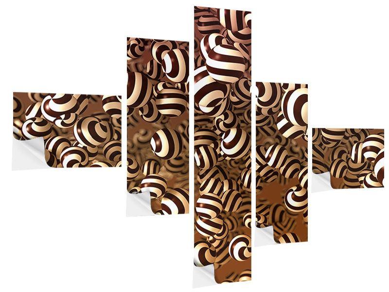 Klebeposter 5-teilig modern Schokoladen-Bonbons