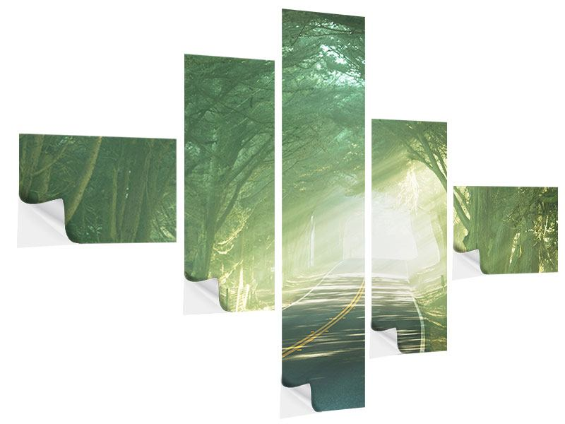 Klebeposter 5-teilig modern Die Allee