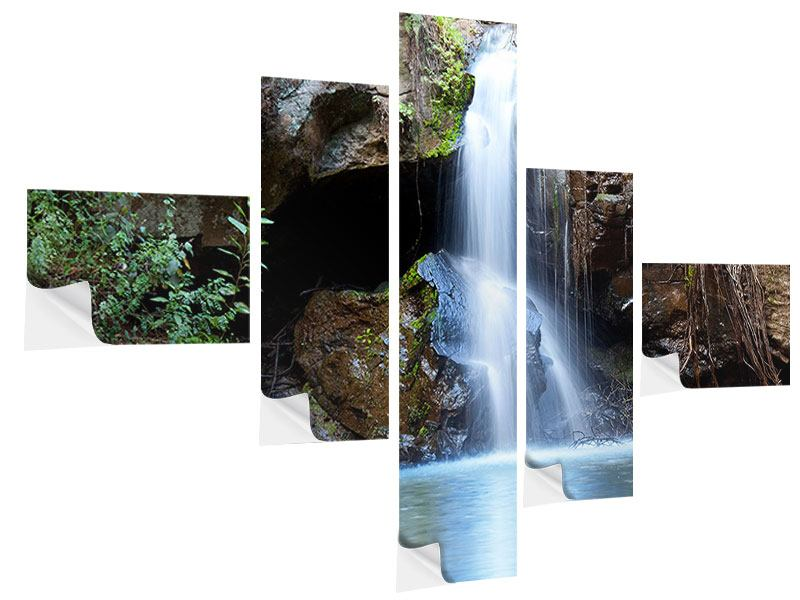 Klebeposter 5-teilig modern Die blaue Lagune