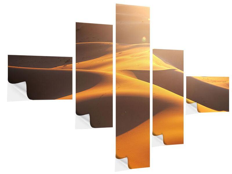 Klebeposter 5-teilig modern Wüstenwanderung