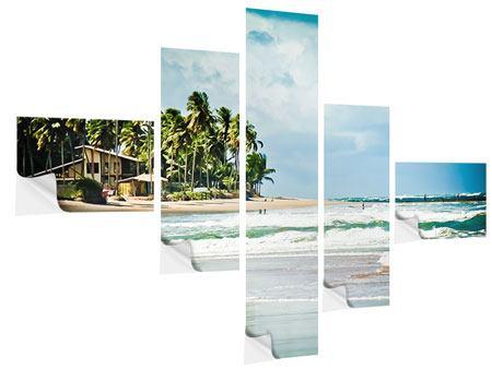 Klebeposter 5-teilig modern The Beach