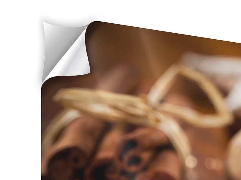 Klebeposter 5-teilig modern Weihnachtsgewürze
