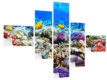 Klebeposter 5-teilig modern Fischaquarium
