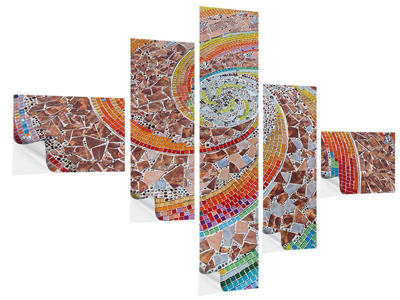 Klebeposter 5-teilig modern Mosaik