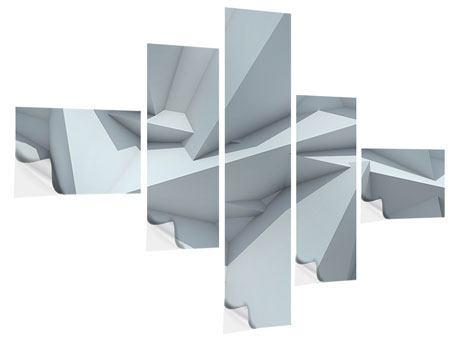 Klebeposter 5-teilig modern 3D-Kristallo