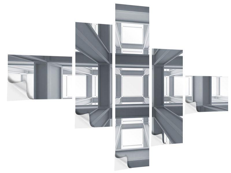 Klebeposter 5-teilig modern Räume