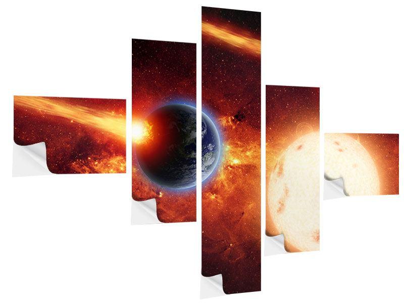 Klebeposter 5-teilig modern Der Kosmos