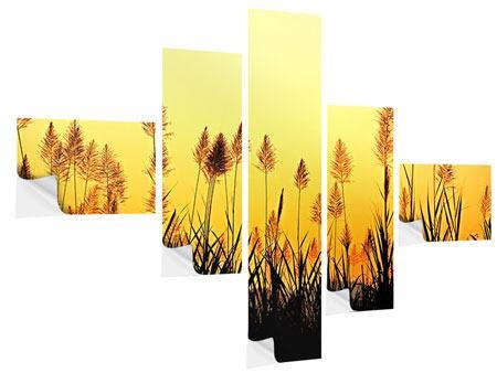 Klebeposter 5-teilig modern Die Blumen des Feldes