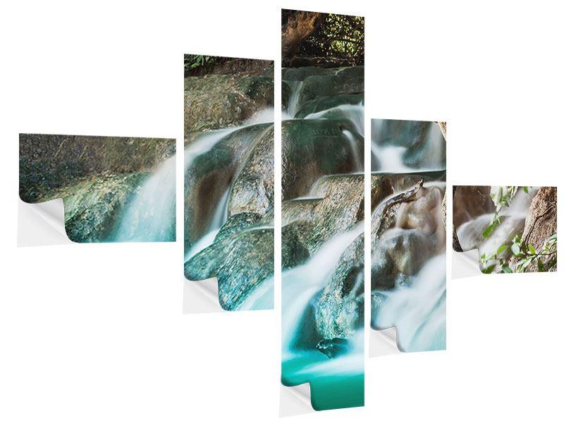 Klebeposter 5-teilig modern Am Fluss des Lebens