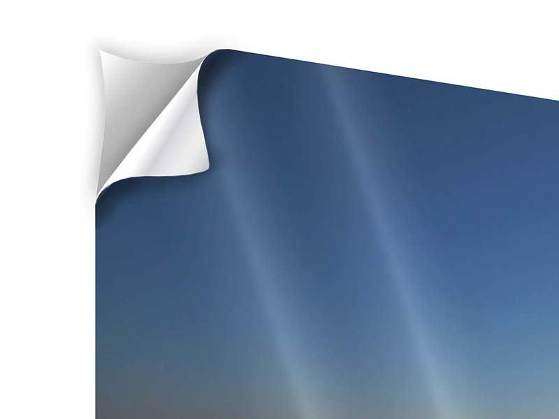 Klebeposter 5-teilig modern Privatstrand