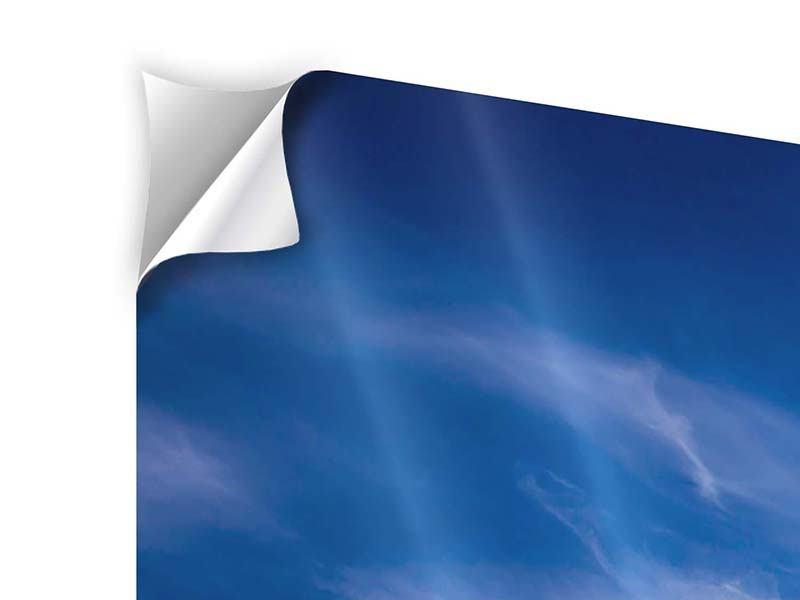 Klebeposter 5-teilig modern Schleierwolken