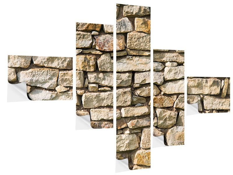 Klebeposter 5-teilig modern Natursteine