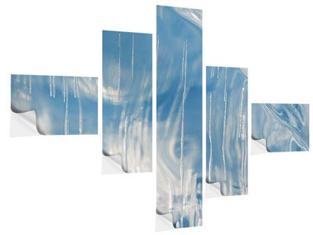 Klebeposter 5-teilig modern Das Eis des Baikalsees