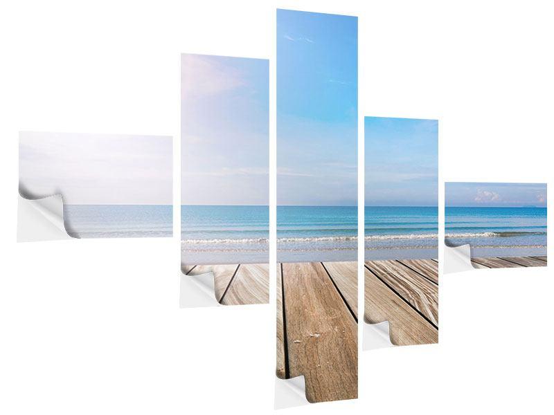 Klebeposter 5-teilig modern Das schöne Strandhaus