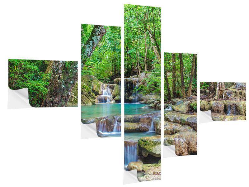 Klebeposter 5-teilig modern Wasserspektakel