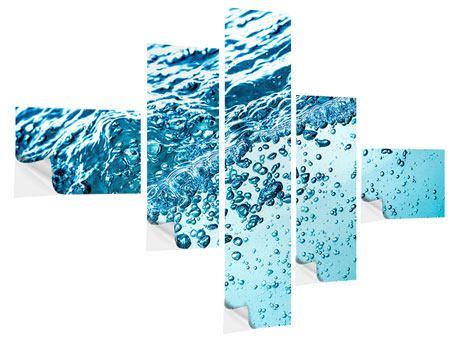 Klebeposter 5-teilig modern Wasser in Bewegung