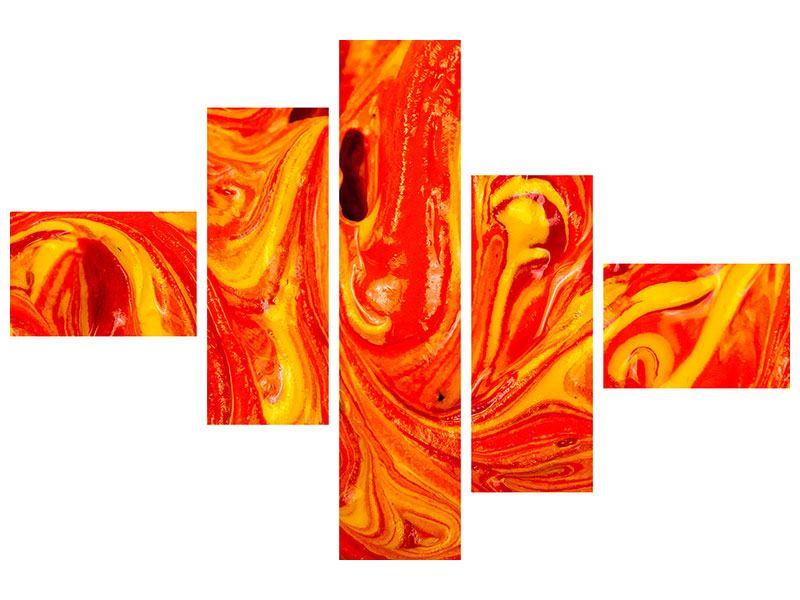Klebeposter 5-teilig modern Wandgemälde