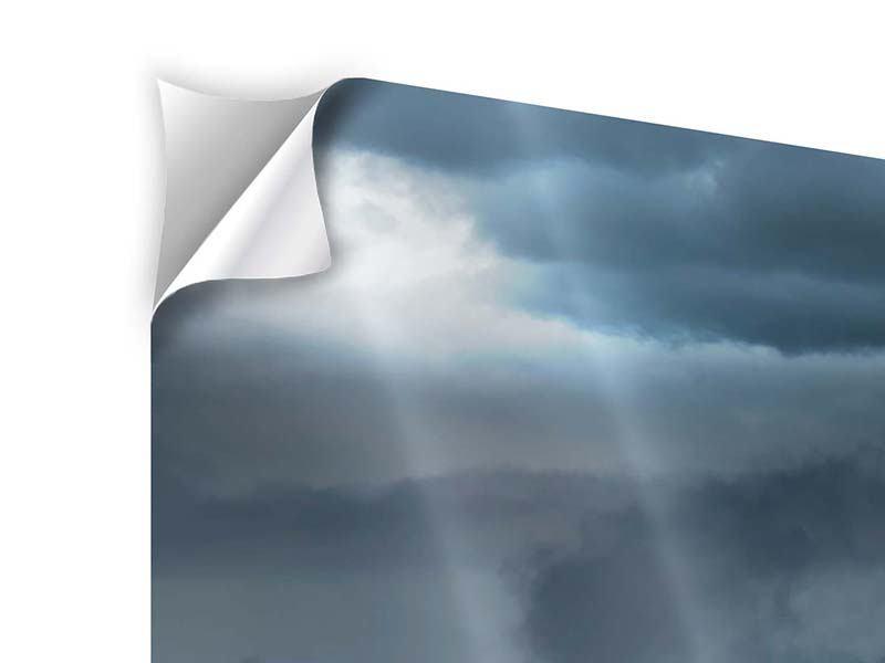 Klebeposter 5-teilig modern Silberstreifen