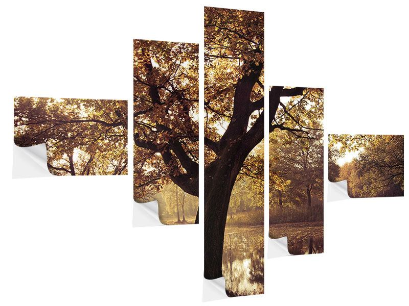 Klebeposter 5-teilig modern Landschaftspark