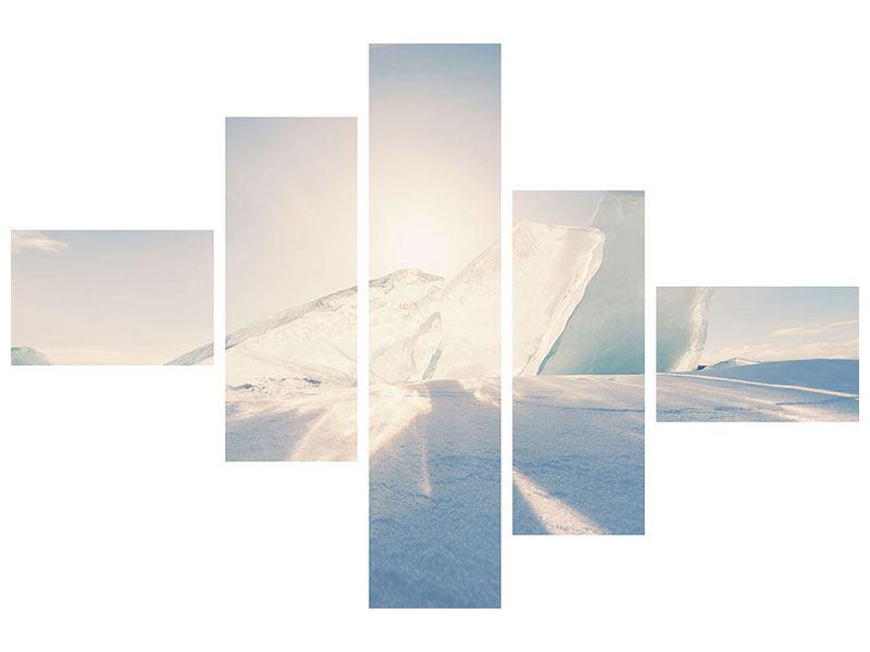 Klebeposter 5-teilig modern Eislandschaft