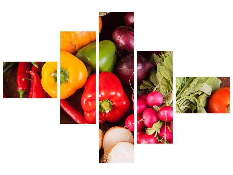 Klebeposter 5-teilig modern Gemüsefrische